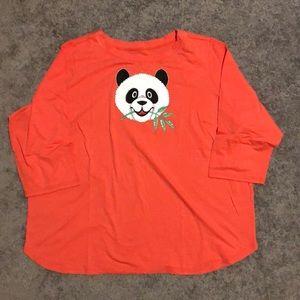Bob Mackie Wearable Art 2X(20/22) Panda T-Shirt